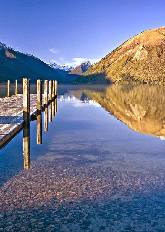 Nelson Lakes National Park, New Zealand. Note the clear, still water!    Bill Gibson-Patmore.  (curation & caption: @BillGP). Bill✔️