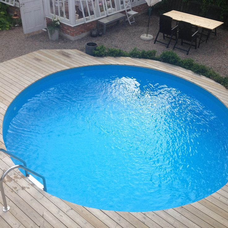 Bygga tralldäck rund pool
