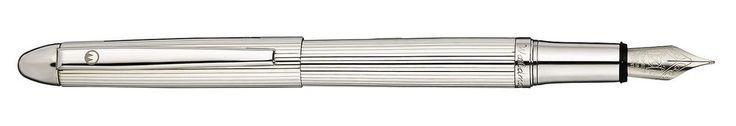 Füllhalter Waldmann Pocket, Sterling Silber 925 guillochiert
