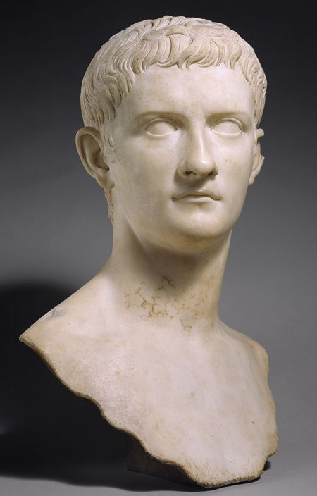 Marble Portrait Bust Of The Emperor Gaius Known As Caligula