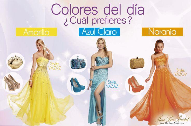 El Color del Día  ¿Cuál Escoges? #boda   #vestidosdenovia   #vestidosparadama   #colordeldia   #tendencias2014   #tendencias #bodas2014   #bodas2015