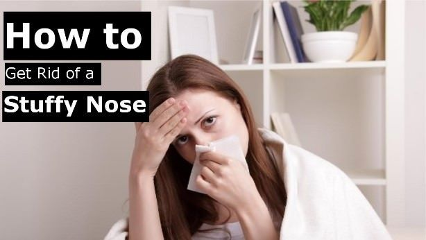 how to stop a blocked nose overnight