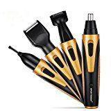 #9: Sportsman Nose Hair Trimmer 4 in 1 Rechargeable Professional Nose Hair Trimmer with Beard Clipper  Sideburn Trimmer Eyebrow Trimmer Ear Trimmer Wet Dry Cleaning System