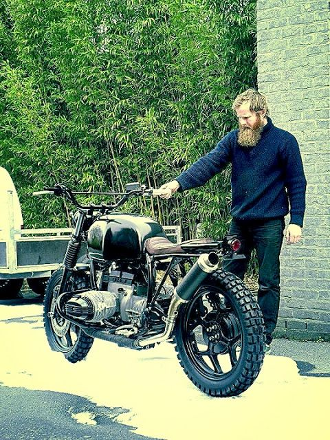 I don't know what better, the ability to grow a great looking beard or an amazing motorcycle to go with it?