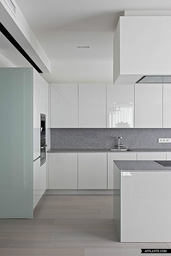 This is what a counter amongst cabinets would likely look like   Contemporary Apartment at Mirax Plaza // Boris Uborevich-Borovsky | Afflante.com