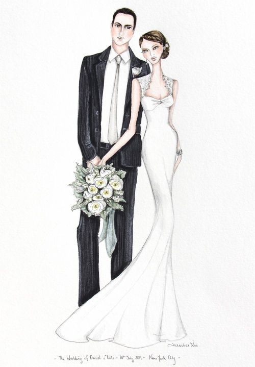 Personalised Wedding illustration