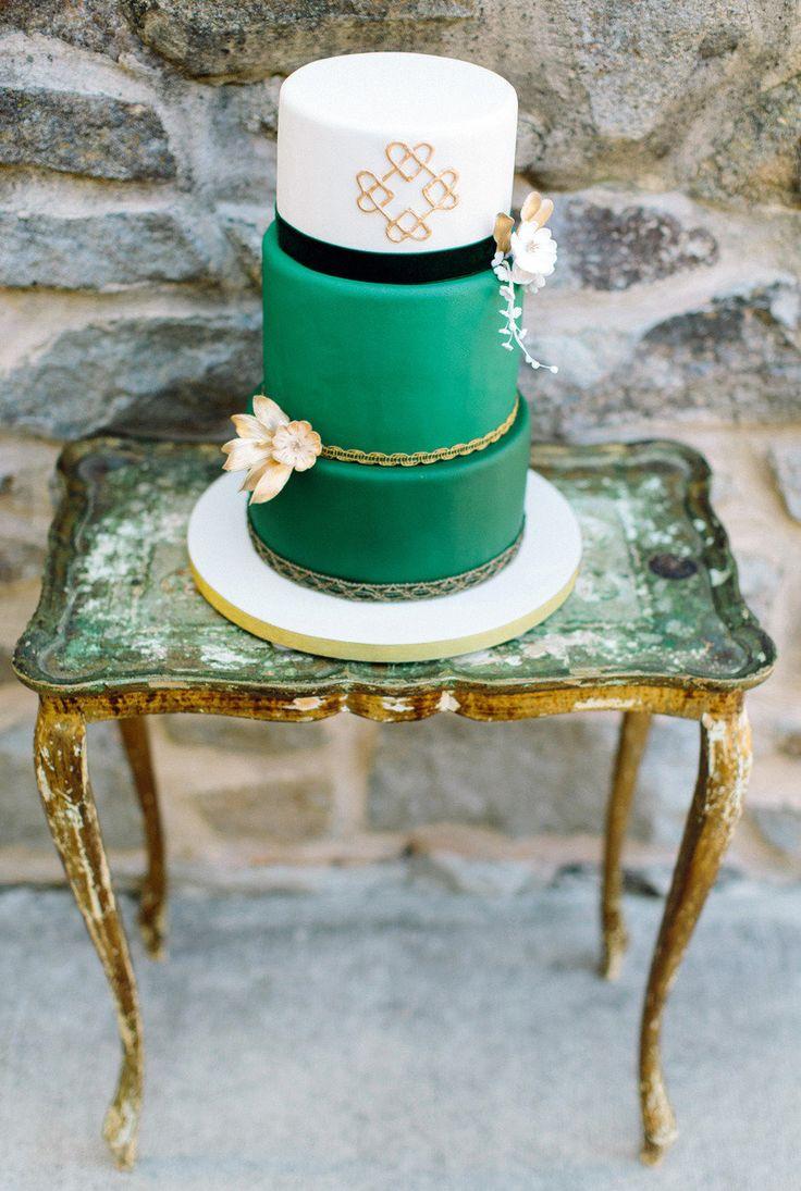 Emerald green cake: http://www.stylemepretty.com/2014/08/21/jewel-tone-wedding-moments-to-love/