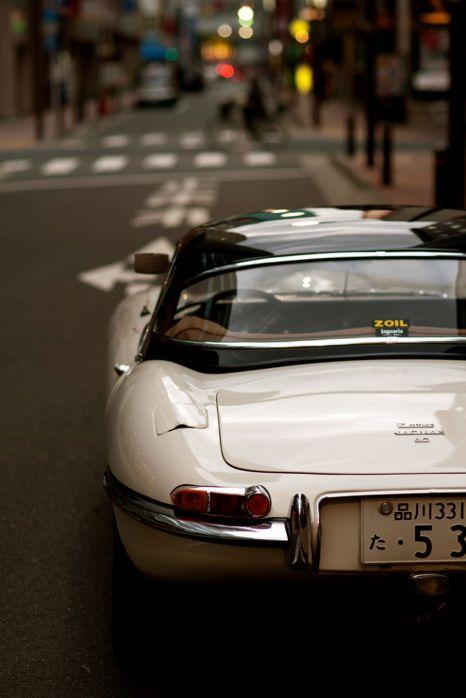 E-Type Jaguar.  Japan.