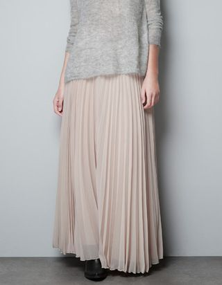 the perfect maxi skirt--long pleated skirt from Zara