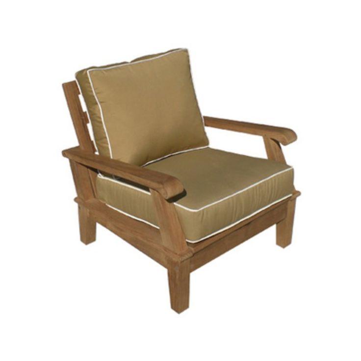 Royal Teak Miami Reclining Outdoor Lounge Chair   MIACH BRONZE