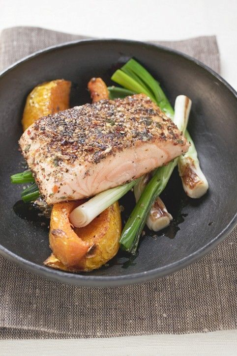 Great for a busy weekday evening, but impressive enough to serve guests, and hugely satisfying as well. Big, simple flavours combine with healthy salmon and a golden crust make it look the part and taste fantastic.