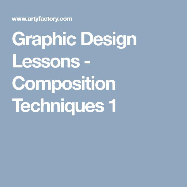 Graphic Design Lessons - Composition Techniques 1