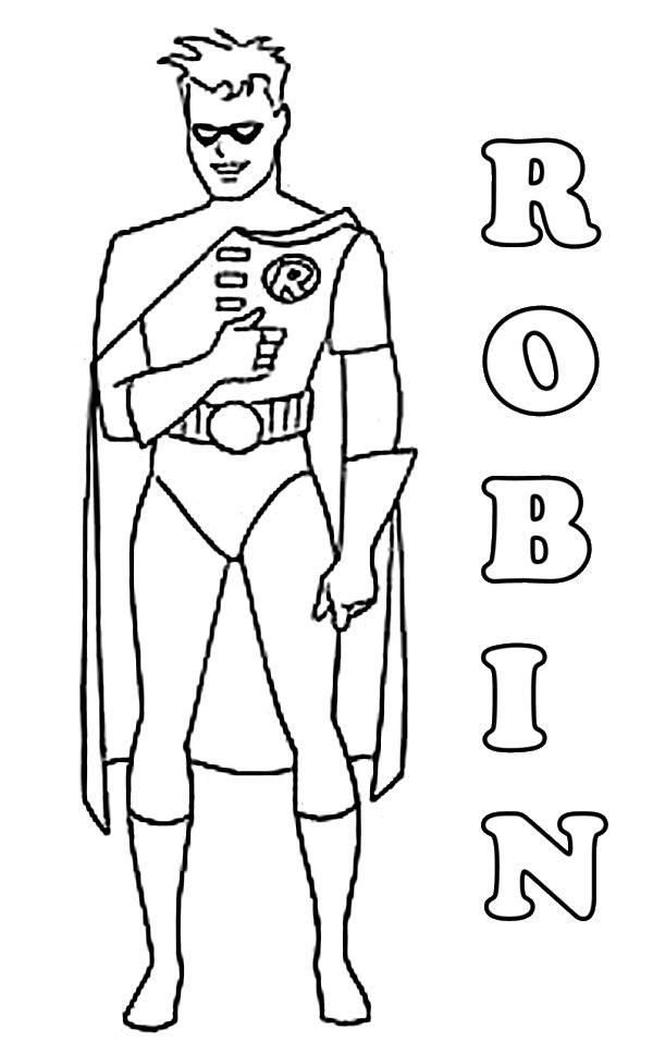Robin Coloring Pages Free To Print Batman Coloring Pages Superhero Coloring Pages Superhero Coloring