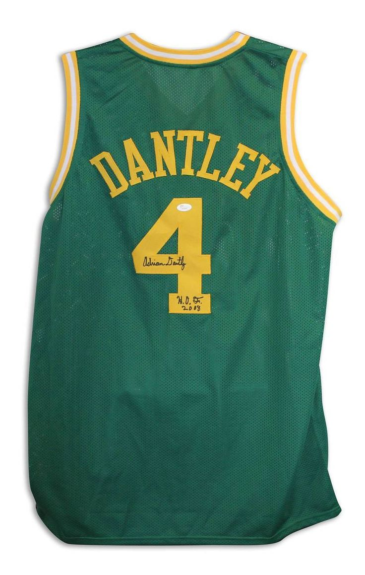 ... Adrian Dantley Utah Jazz Autographed Green Throwback Jersey Inscribed  HOF 2008 - promotional events 2a0c9f5db