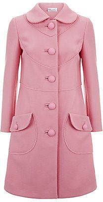 Red Valentino Large Button Swing Coat