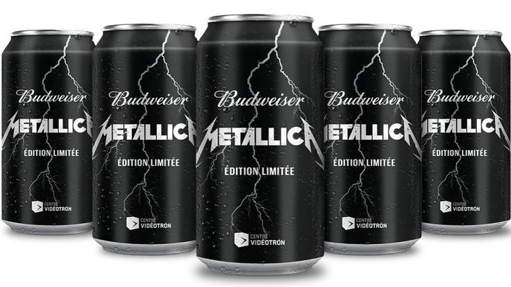 Limited-edition Budweiser on sale this month to mark thrash giants' tour dates Metallica Beer #beer