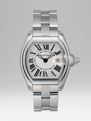 Cartier Roadster Stainless Steel Watch on Bracelet/Interchangeable Strap, Small   $5,400.00: