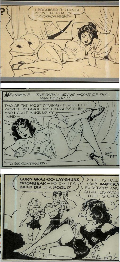 FRANK FRAZETTA - Li'l Abner strips - prints by comicartfans.com
