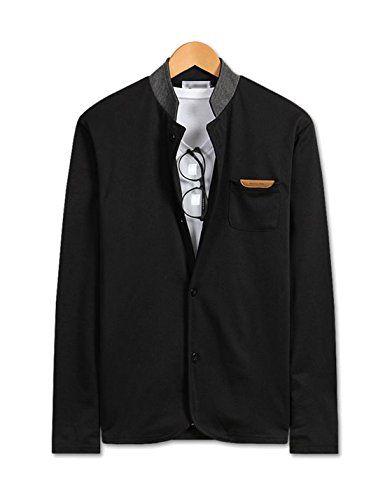 Showblanc (SBSBGA26) Attractive People Mandarin Collar 2 Button Classy Cardigan BLACK Medium(Chest 36) Showblanc http://www.amazon.com/dp/B0151MYQT2/ref=cm_sw_r_pi_dp_XWVlwb0JW6D3V