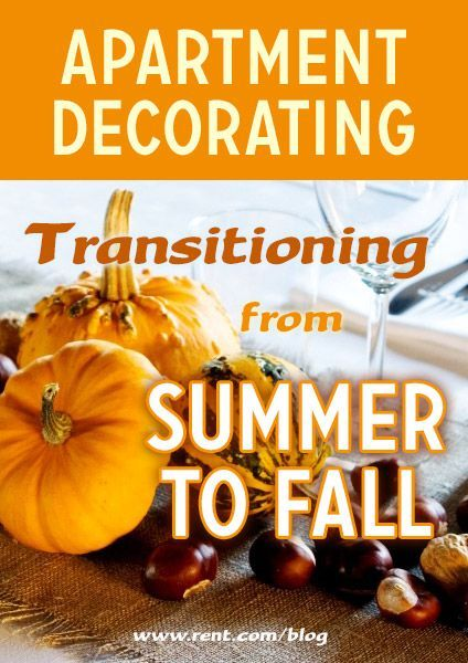 Fall decorating can embrace many of the items that you already have in your apartment, but you can easily add subtle accents of fall decor.