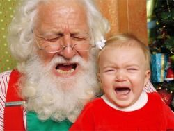 Best Scared of Santa Photos - Baby Christmas Pictures - Parenting.com