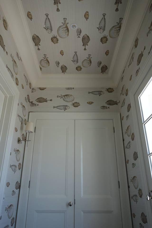 Fornasettiu0027s Wallpaper Acquario By Cole U0026 Son! More · Fish WallpaperBathroom  ...