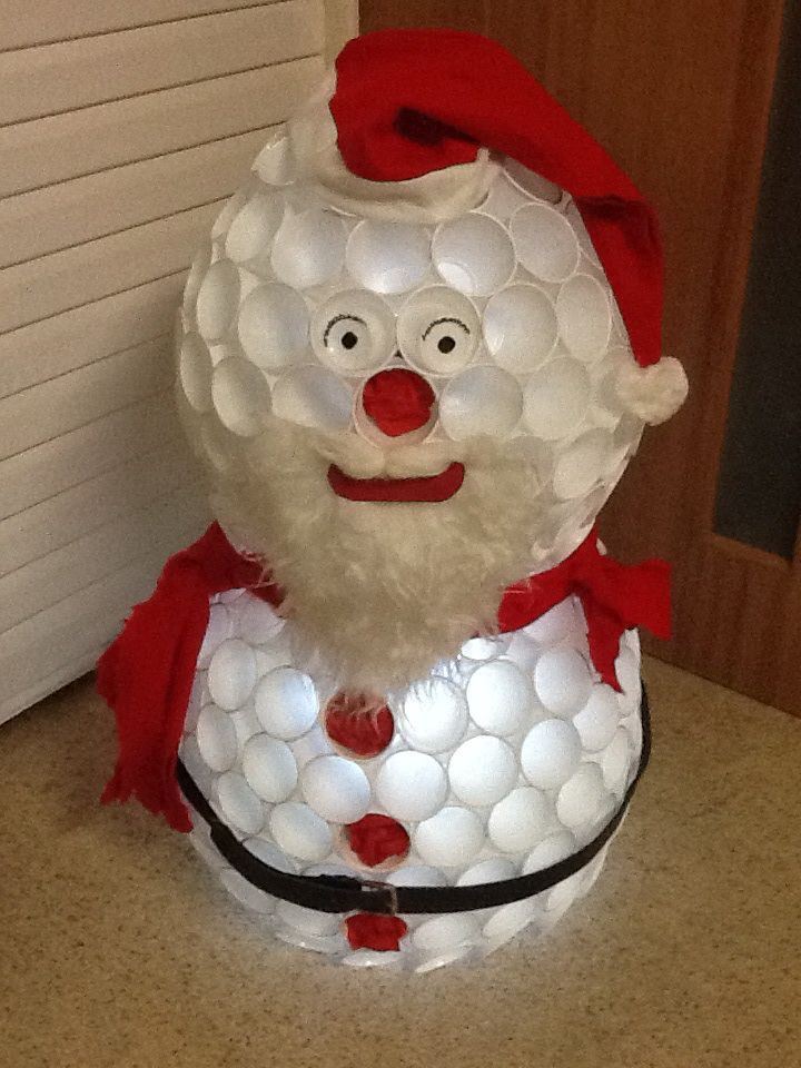 The 223 best images about christmas craft ideas on for Plastic cup snowman