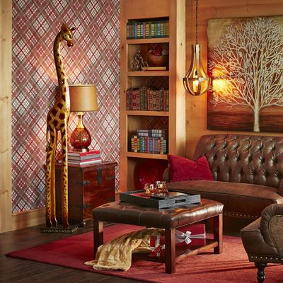 golden wooden giraffe pier 1 home decor cocktail ottoman antique living rooms velvet couch. Black Bedroom Furniture Sets. Home Design Ideas