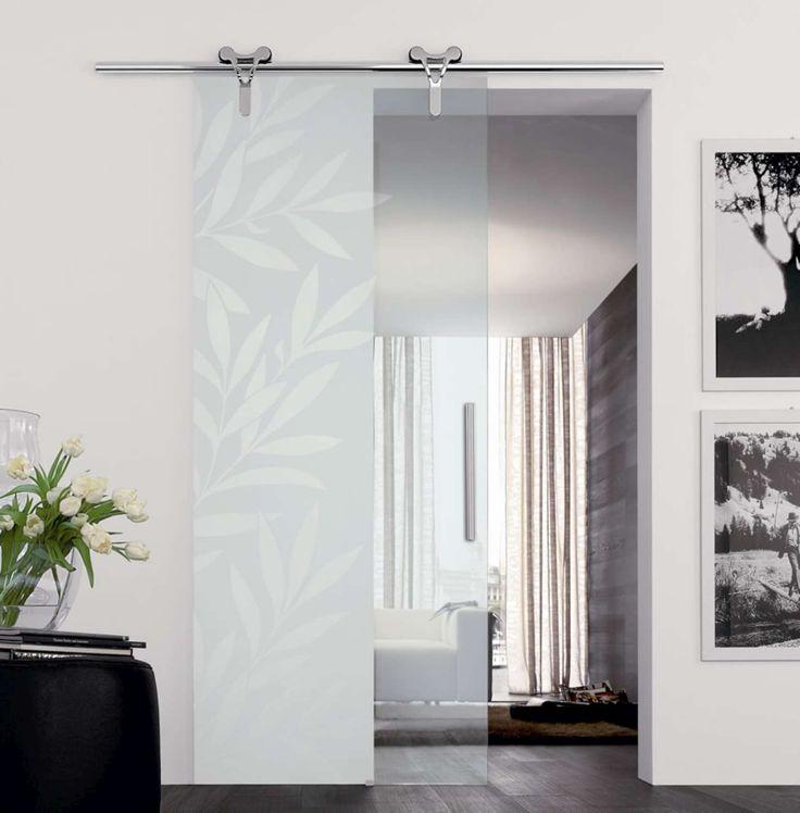 Porta vetro Logika  decoro kenzia laterale su vetro trasparente-1500