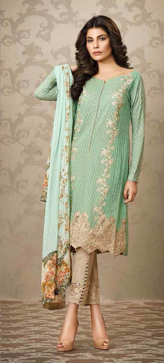 The sobia nazir new silk chiffon embroidered un stitched Pakistani fashion designers