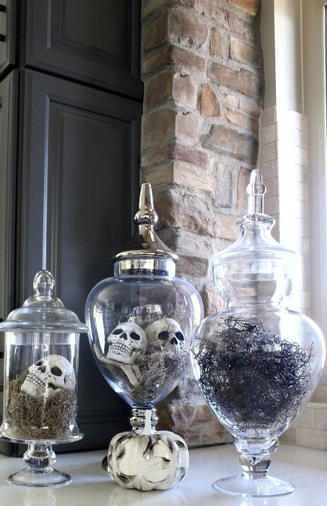Spooky Diy Indoor Halloween Decoration Ideas For 2019 Apothecary Jars 00025 Deco Table Decoration Deco
