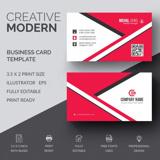 Creative Modern Corporate Business Card Logo Business Card
