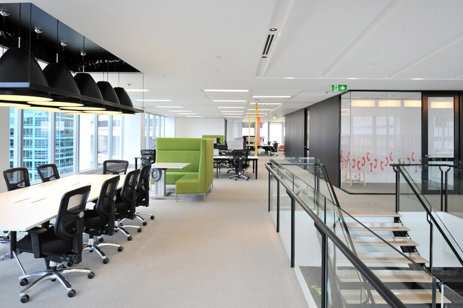 Clever zoning lighting feature goodman in sydney by for Office design awards