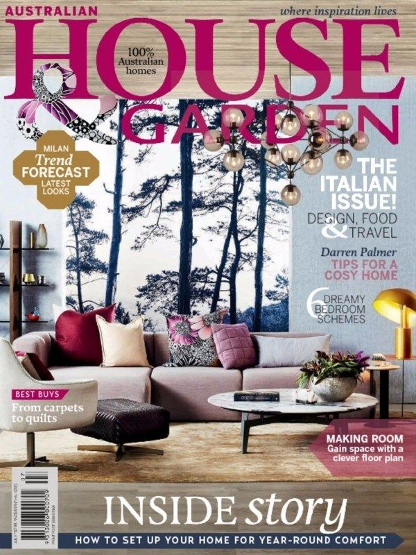 Australian House & Garden July 2016 Issue- The Italian Issue- Design, Food & Travel  #AustralianHouseandGarden #TipsforCosyHome #BedroomDesign #ebuildin