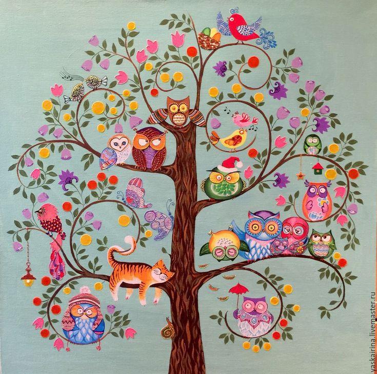 рисунок сказочные деревья этом