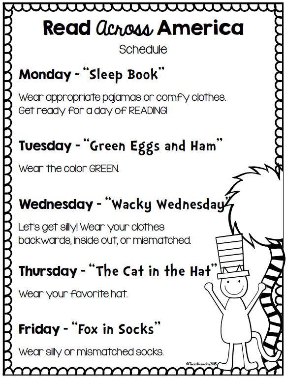 Read Across America Dress Up Days Dr