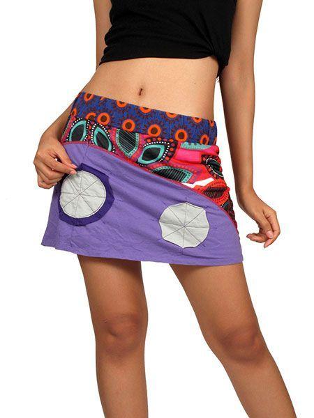 Minifalda hippie 100% algodón patchwork de flores estampado hippie de flores de colores y cintura elástica estampada. http://www.aleko.kingeshop.com/Minifalda-hippie-patchwork-de-flores-dbaaaaiCa.asp
