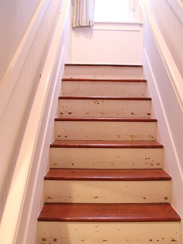 White Painted Handrails For Stairs