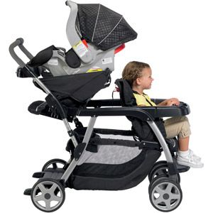 Graco - Ready2Grow LX Stand and Ride Double Stroller, Metropolis. I'll need this come April!