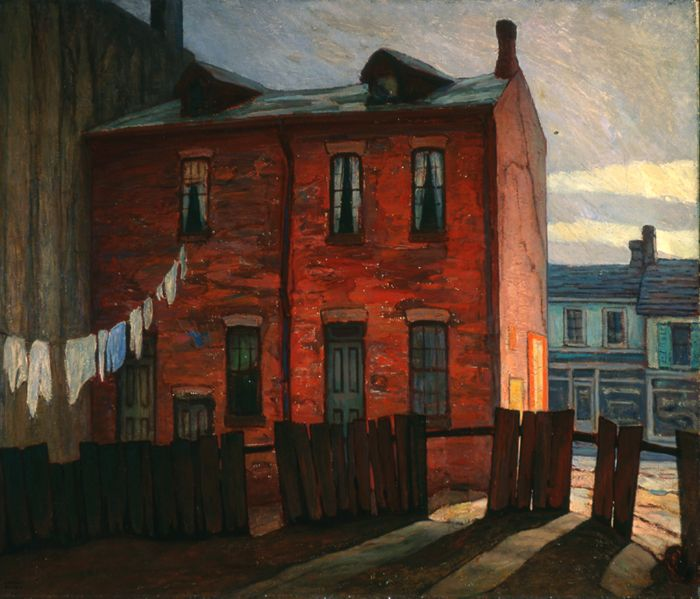 Lawren Stewart Harris: Morning windypoplarsroom:
