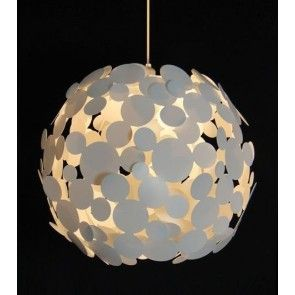 Large Decorative 'Popcorn' Ceiling Pendant Shade in White