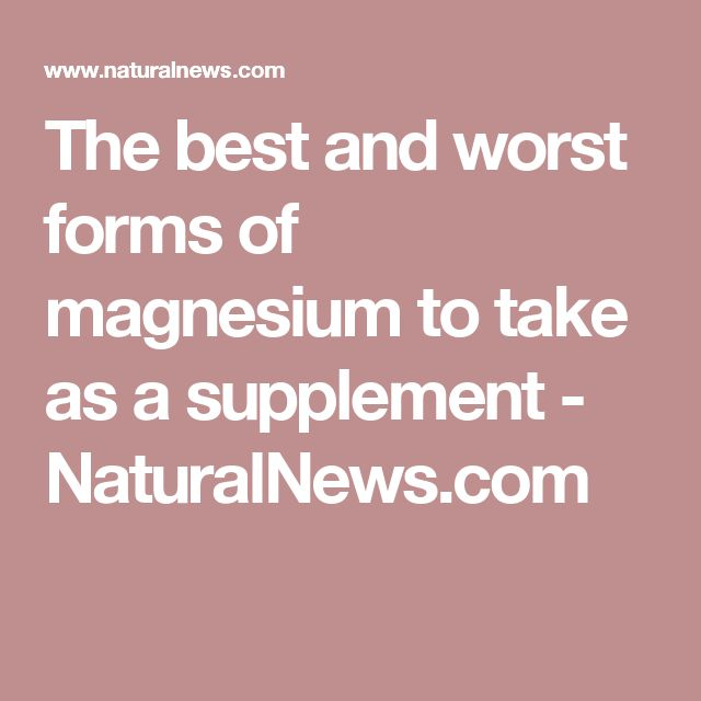 The 25+ best Magnesium taurate ideas on Pinterest | Best magnesium ...