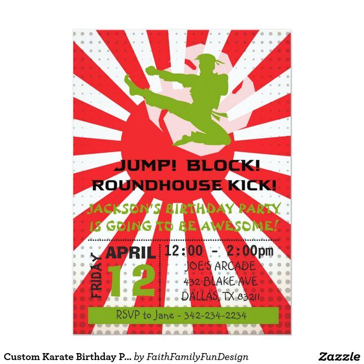 Karate Birthday Party Invitation Wording - All The Best Invitation ...