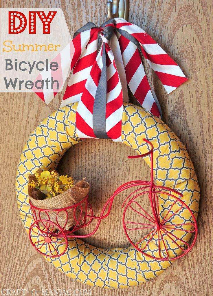 DIY Summer Wreath www.craft-o-maniac.com