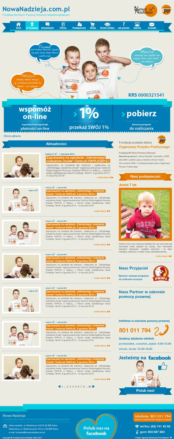 Website for the foundation New Hope   Design: www.pinkelephant.pl /web design /layout /portfolio /web /design