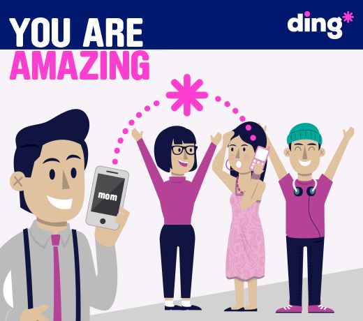 Do you send mobile top-up to family or friends abroad? It might not seem like a big deal but it can mean so much to the person receiving it and for that, we think you are amazing  https://www.ding.com/