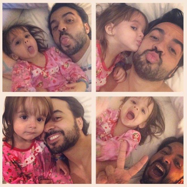 Fonsi y su hija Mika