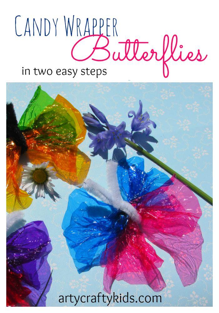Sweet Wrapper Butterflies.      Gloucestershire Resource Centre http://www.grcltd.org/scrapstore/