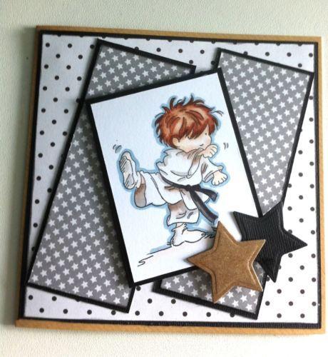 Lili of the valley(lotv) handmade ,Boys,mens,teen Birthday Card,karate,judo. | eBay