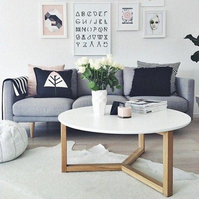 die besten 25 couchtisch rund ideen auf pinterest couchtisch skandinavisch couch grau. Black Bedroom Furniture Sets. Home Design Ideas